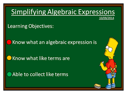 simplifying algebraic expressions worksheet grade 6 all the best