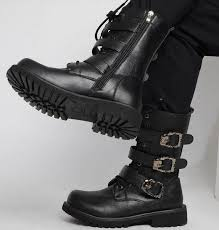 s boots buckle s buckle side zipper boots cowboy high shoes
