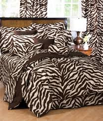 Zebra Bedroom Furniture Sets Brown Zebra Print Bed Set Interiordecorating