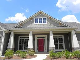Homes With Front Porches Craftsman Style Front Porch Craftsman Porch Atlanta By