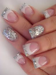be sparkling let u0027s copy these 16 glitter acrylic nail designs