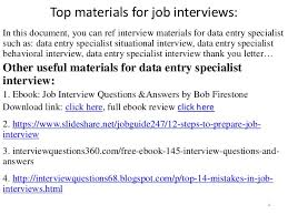 Data Entry Specialist Job Description Resume by Top 36 Data Entry Specialist Interview Questions And Answers