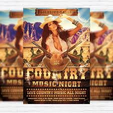 template flyer country free country music night premium flyer template facebook cover