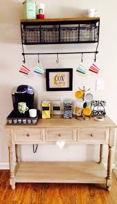 Under Cabinet Shelves by Small Coffee Station Table With Drawer And Storage Plus Hanging