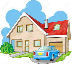Story House by Dwelling Two Story House With Garage Royalty Free Cliparts