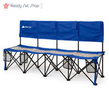 Portable Sports Bench 6 Seat Sport Bench Portable Folding Chair Soccer Team Camping