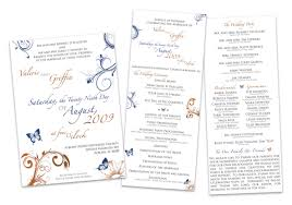 Church Programs For Wedding Custom Wedding Design Valerie U0026 Griffin The Traveling Designer
