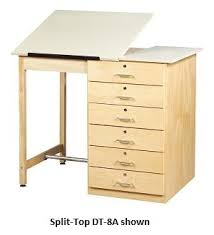 Split Top Drafting Table All Drawer Base Drafting Table By Shain Options Vocational