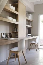 bureau design coin de travail avec deux bureaux le du mur