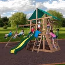 Backyard Discovery Montpelier Cedar Swing Set Adventure Play Sets Atlantis Cedar Wooden Swing Set Walmart