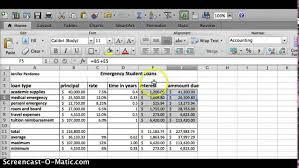 Loan Spreadsheet Emergency Student Loans Excel Spreadsheet Youtube