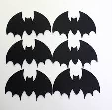 Halloween Bat Cutouts by Amazon Com 25 Black Paper Bats Die Cut Bats Halloween Vampire