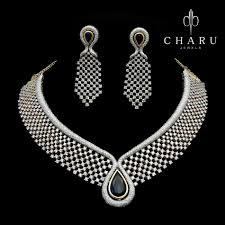 real diamond necklace images Nivetas real diamond necklace httpswwwfacebookcompunjabisboutique jpg
