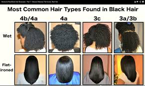 Hair Types by Black Hair Types Chart Hairstyle Foк