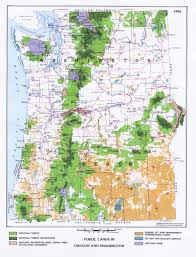 Map Of Washington by 1up Travel Maps Of Washington Public Lands In Oregon And