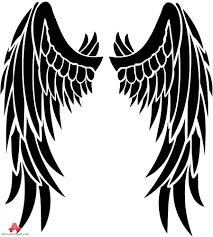 tribal bird wings design free clipart design