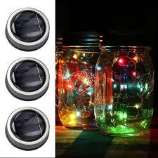 color changing solar string lights 1 2m 10 20led fairy lights solar string mason jar insert color