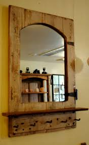 Salvaged Barn Doors by Reclaimed Barn Door Mirror With Hand Forged Hooks Empty Spaces
