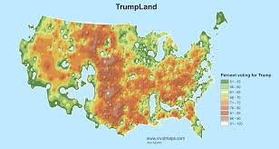 World Map With Ocean Labels by Trumpland And Clinton Archipelago Vivid Maps