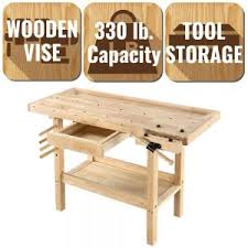Wooden Bench Vise Plans by Easy To Build Workbench Kit Photo On Awesome Woodworking Bench