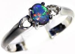 black opal engagement rings solid black opal 18k white gold engagement