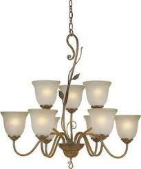 Triarch International Chandelier Maestro Silver And Gold Leaf 6 Light Chandelier By Triarch