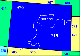 Colorado Springs Zip Code Map by Area Code 719 Wikipedia