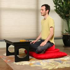 meditation or puja table for meditation u0026 prayer samadhi cushions