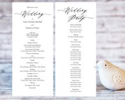 folded wedding program wedding program templates wedding templates and printables