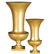 Decorative Urns Vases Poly Resin Vases U2013 Gold