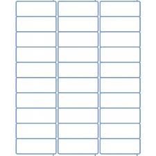 Address Labels 30 Per Sheet Template Address Labels Laser Labels Inkjet Labels 2 625 X 1 30 Per