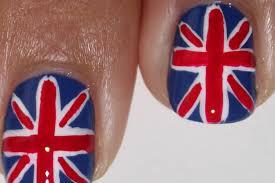 Beitish Flag Union Jack Flag British Nail Art Tutorial Youtube