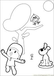 pocoyo 06 coloring free coloring pages