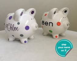 customized piggy bank baby custom piggy bank etsy