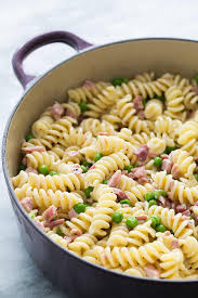 recipes with pasta pasta with ham and peas recipe simplyrecipes com