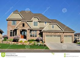 luxury two story suburban executive home royalty free stock photo