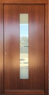 Frosted Glass Exterior Doors by Model 086 Modern Afromosia Finish Exterior Door W Frosted Glass
