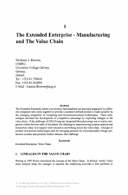 the extended enterprise u2014 manufacturing and the value chain springer