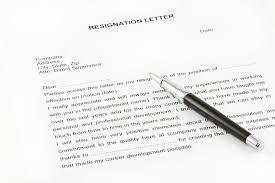 resignation letter sample in pakistan doc pdf format download