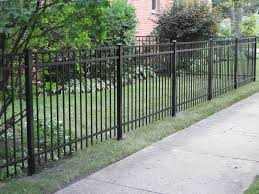 aluminum fences ornamental steel fencing in chicagoland rustic
