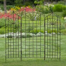 5 foot or 6 foot iron ogee arch trellis sunrays and pointed