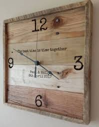 personalized wedding clocks 13 personalized wall clock reclaimed wood clock pallet