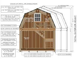 construction specifications on a 2 story gambrel barn from pine