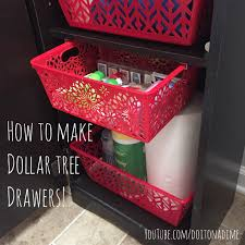how to organize your bathroom vanity how to turn dollar tree bins into custom pull out drawers