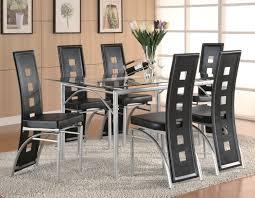 7 piece glass dining room set los feliz 7 piece dining set red or black manager special