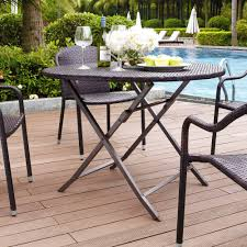 crosley furniture palm harbor outdoor wicker folding table