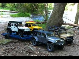 rc jeep for sale rc 4x4 river run 3 jeeps 2 trailers 1 defender 90 pt2