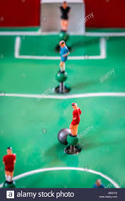 table top football games player figurines of tabletop football game stock photo 175226386
