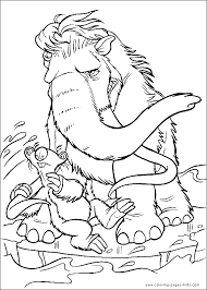 ice age color cartoon characters coloring pages color plate
