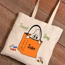personalized trick or treat bags tote bags